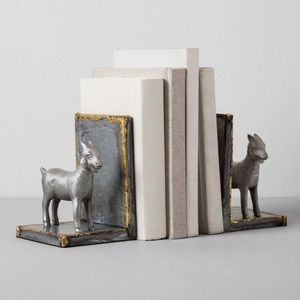 ❤️Just In! Hearth & Hand Galvanized Goat Bookends